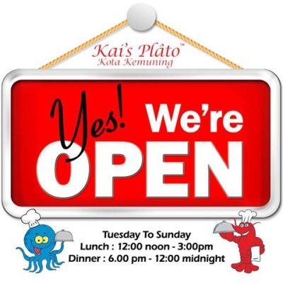 Kai's Plato Opening Hours